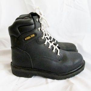 1ae22df51f2 BRAHMA BOOTS BLACK IRON TOUGH HIKING Steel Toe